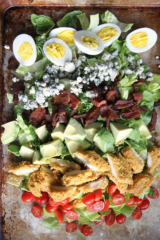 Oven Fried Chicken Cobb Salad