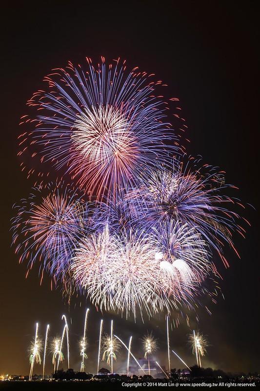 2014台南土城正統鹿耳門聖母廟元宵高空煙火