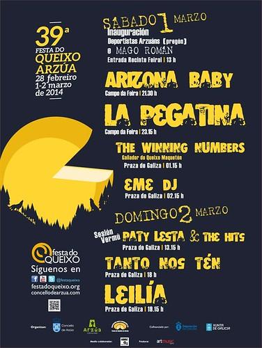 Arzúa 2014 - Festa do Queixo - programa