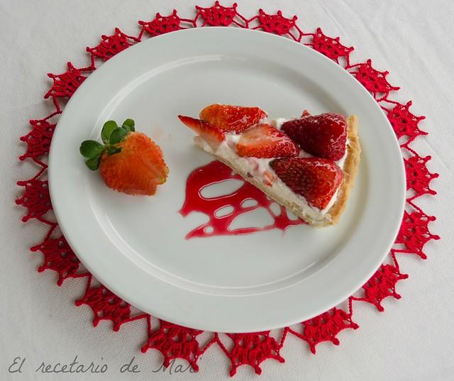 tarta de requeson y fresas2