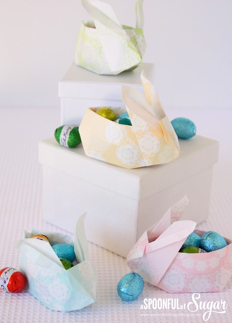 Origami Bunny Basket Tutorial