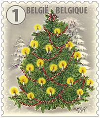 18a Timbre Noël Belgique