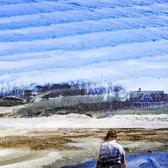 #trans_lucent #doubleexposure #bhportdev @bheventspace #capecodbay #lowtide #bluesky #bluesand #partner #alonetogether