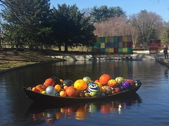 Chihuly boat at the New York Botanic Garden  #chihuly #boat #chihulyglass #NYBG #newyork #newyorkbotanicalgarden #newyorkcity #nyc #garden #pond #nofilter #iphone #iphoneography #glass #glassballs #art #artwork