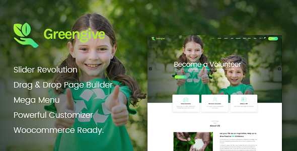 Greengive WordPress Theme free download
