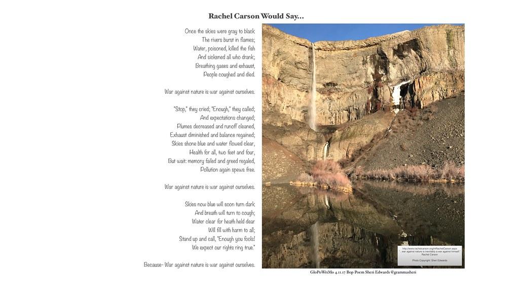 Rachel Carson Would Say... GloPoWriMo 41117