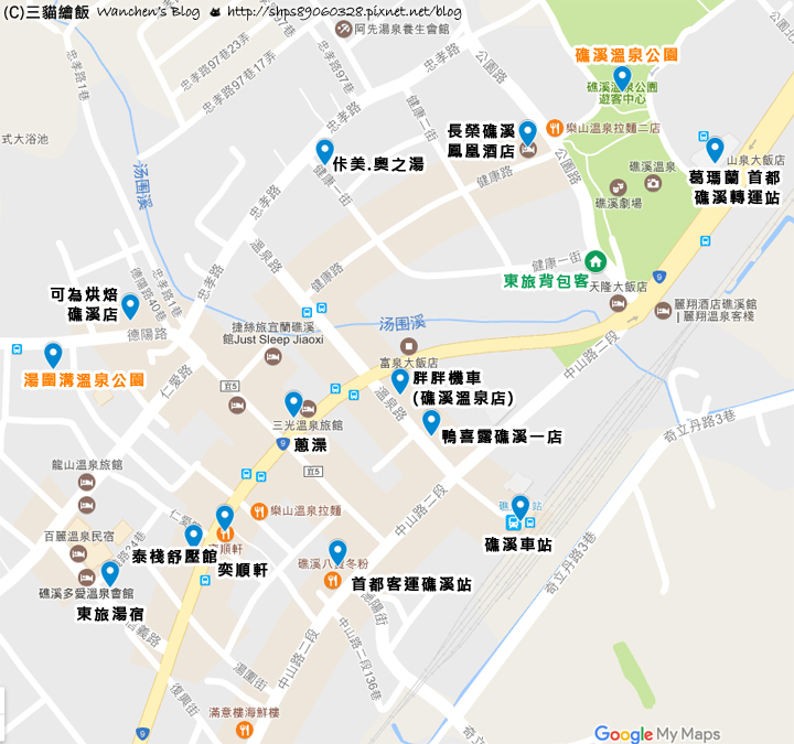 East Hostel Map