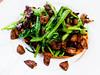 炸雞雜佐菠菜