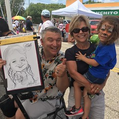 On of the #drawing #caricature from the Downtown Gateway #Clearwater celebration for the kids event!