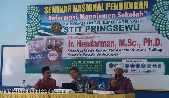 STIT Pringsewu Seminarkan Reformasi Manajemen Sekolah