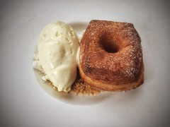 Duck Fat Donut & Vanilla Ice Cream - The Grey Plume - Omaha, NE