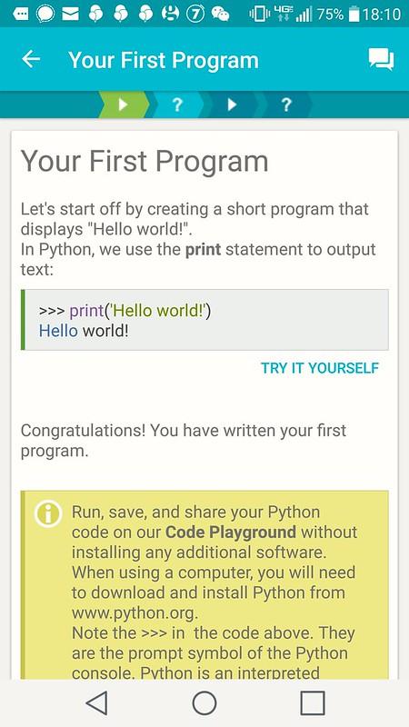 Hello World från Python