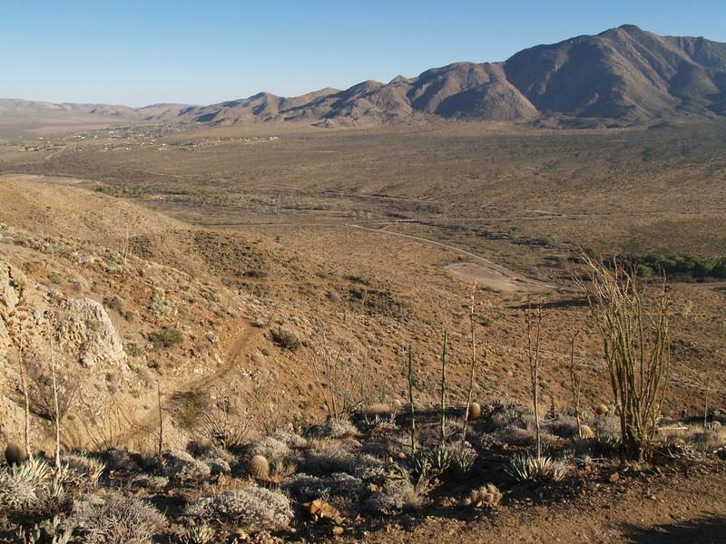 PCT San Felipe Hills - looking south toward Scissors Crossing