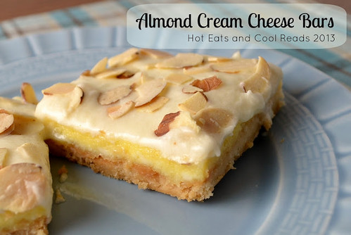 Almond Cream Cheese Bars from Hot Eats and Cool Reads