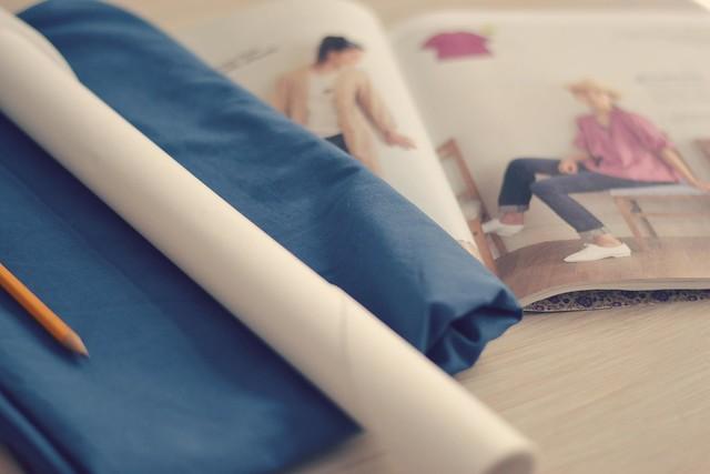 Projet couture haut à plis