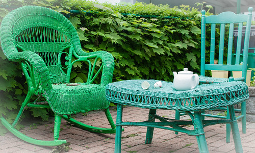 Tea for two in green and aqua on Sherwood - #142/365 by PJMixer