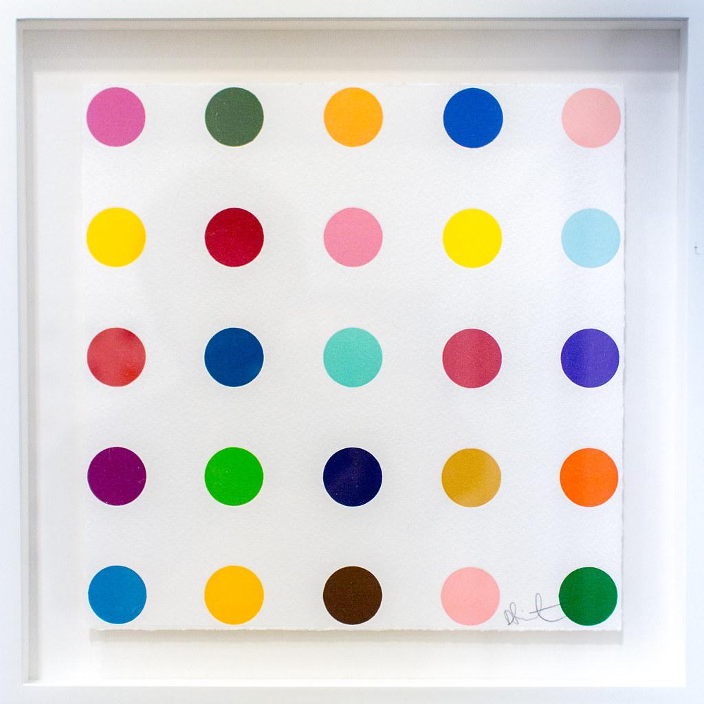 """Limited Edition Prints by Damien Hirst: Thr-ser, 2012 (1-inch woodcut spot)"" / Paragon Press / Art Basel Hong Kong 2013 / SML.20130523.EOSM.04002.SQ"