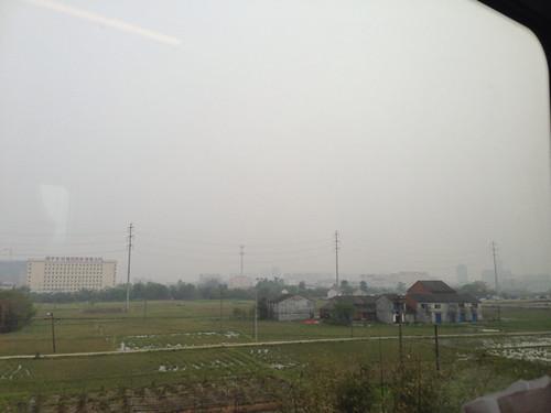动车离开上海了