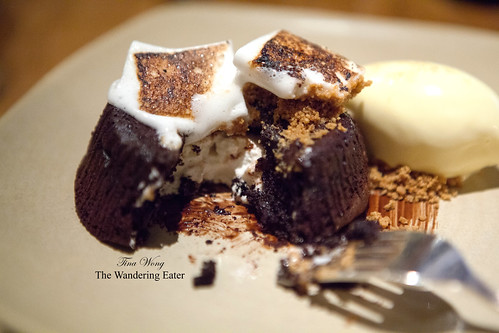 "Melting Dark Chocolate ""S'mores"" & Smoked Ice Cream"