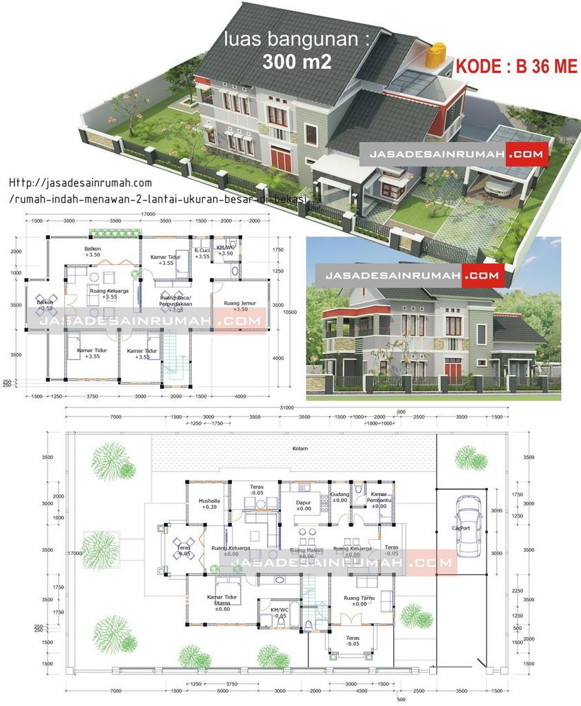 denah rumah sederhana minimalis 2 lantai 3d images rumah