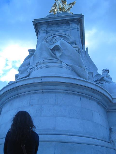 Looking up to Queen Victoria