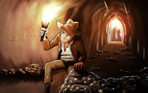 Indiana Jones and the Hieroglyph of Bodacity by ORAZ Studio
