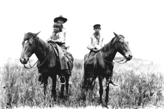 Unidentified Seminole men on horseback: Indian Prairie near Lake Okeechobee, Florida