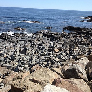 Rock stacks #maine #marginalway