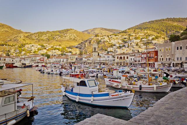Hydra Island Harbour, Ύδρα, Greece