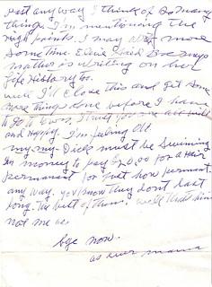 Elsie Eddlemon Letter 1 Mar 1965 - 2