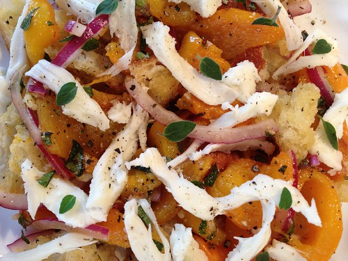 Roasted Pepper Panzanella Annie
