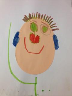 Self portrait by my 4yo #weekinthelife