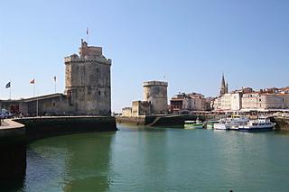 La Rochelle: l'entrée du port