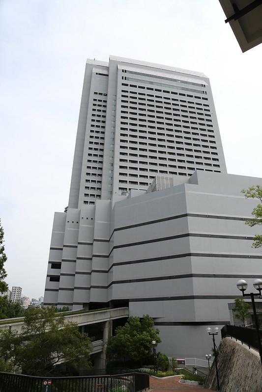 布引ハーブ園ロープウェーはクラウンプラザ神戸に併設されている