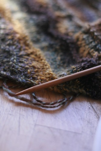 Handspun, knitted
