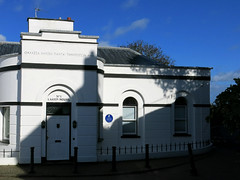 Photo of Assembly Rooms, Tenby, Sea Water Baths, Tenby, and William Paxton blue plaque