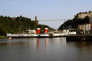 PS 'Waverley' Cumberland Basin, Hotwells & Clifton Bridge, Bristol 16.5.1992 (1)