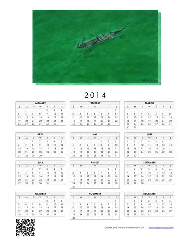 2014 Calendar - Grand Canal, Venice