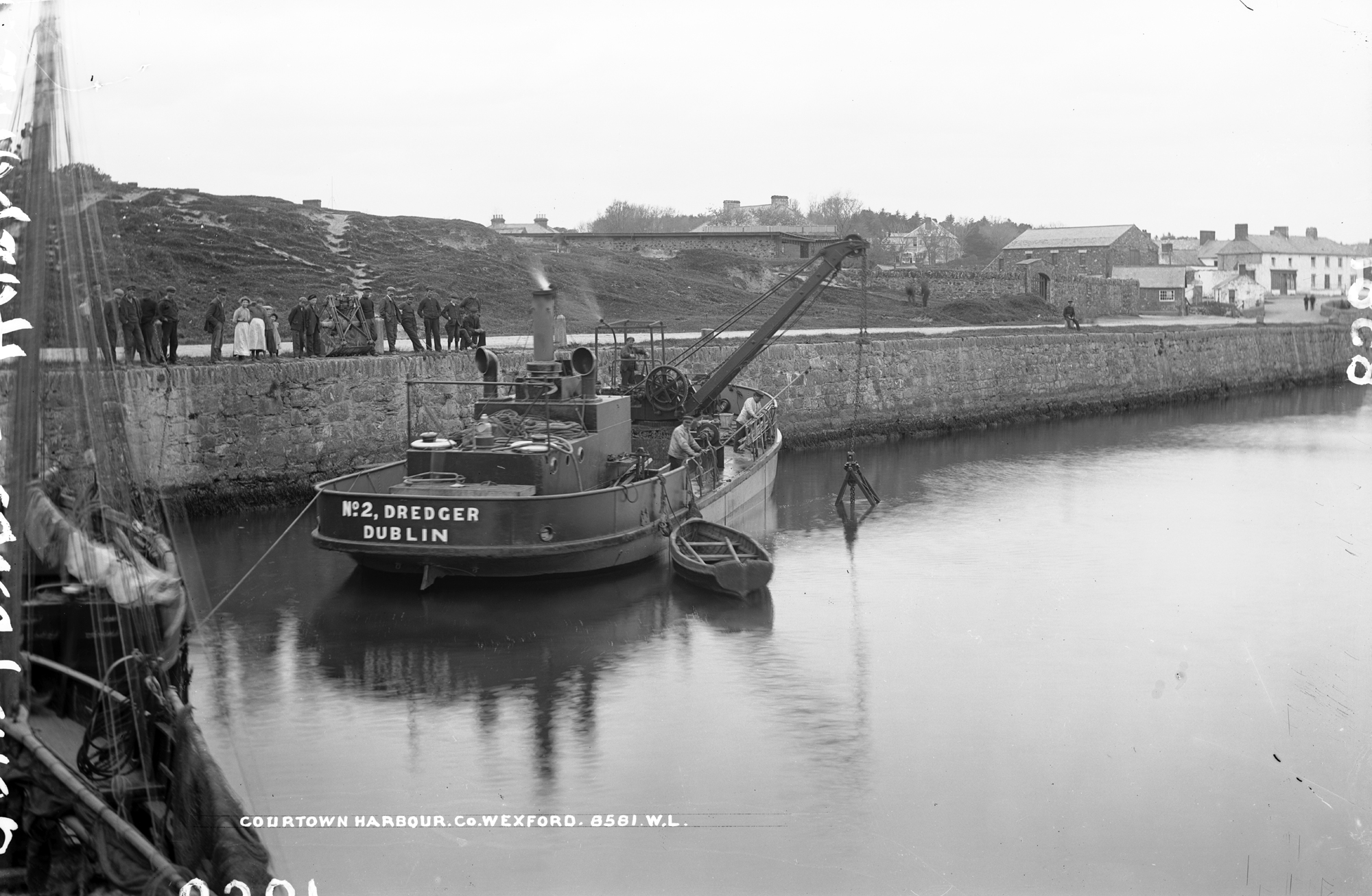 Old photo of Courtown Harbour, Co. Wexford, Ireland