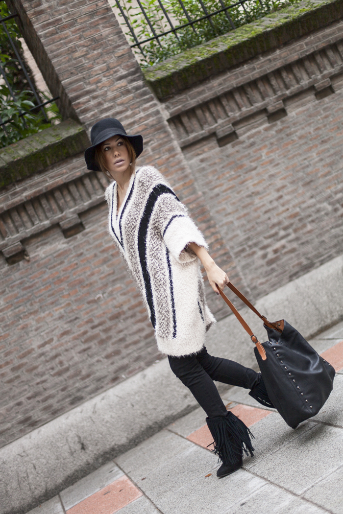 street style barbara crespo the corner shop maxi sweater fashion blogger outfit