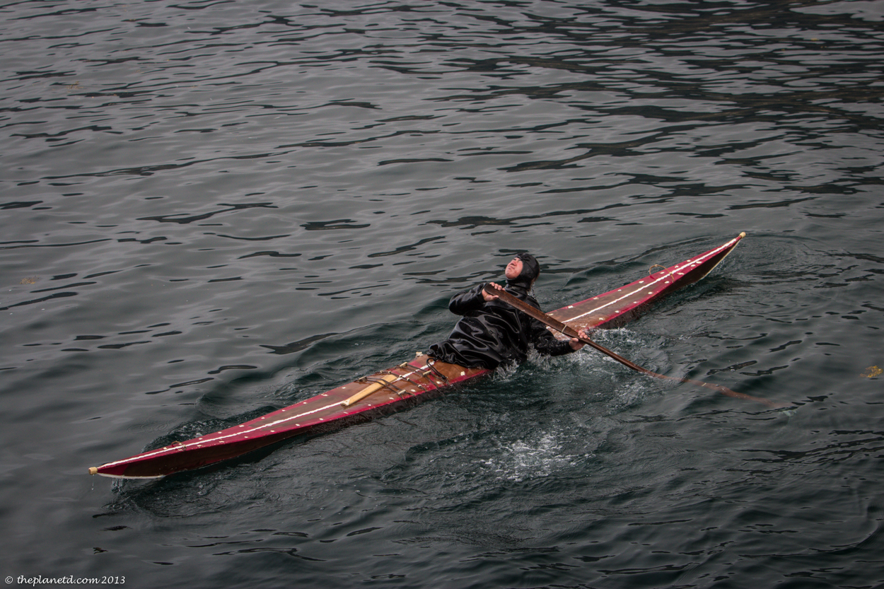 Traditional Kayakers in Nuuk, Greenland