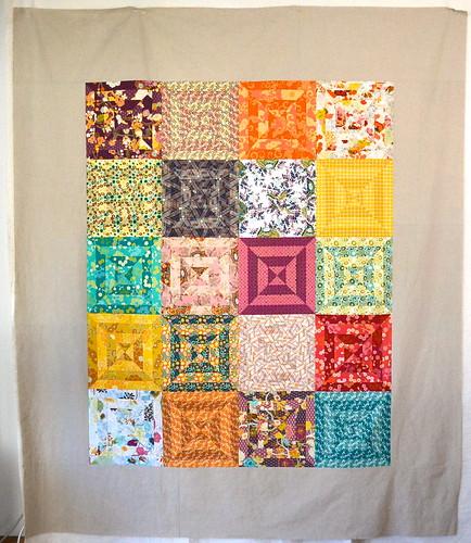 Indie Stripes quilt top