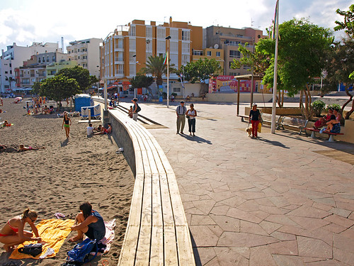 El Medano Beach and Plaza, Tenerife
