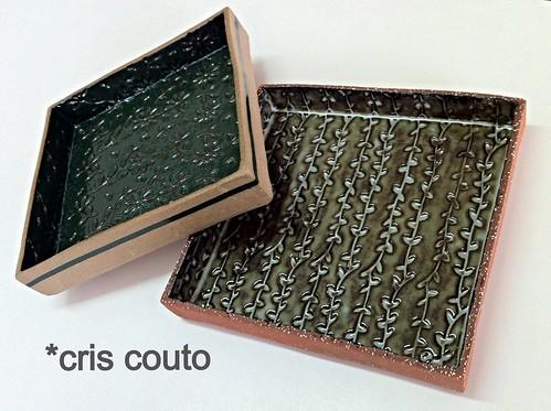 Prato caixa...20x20cm by cris couto 73