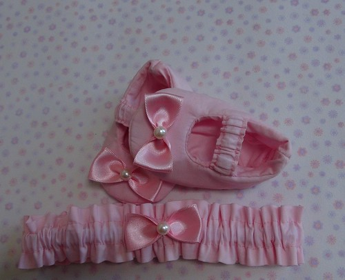Sapatinho e Tiara by Cute for Baby by Mirian Rezende