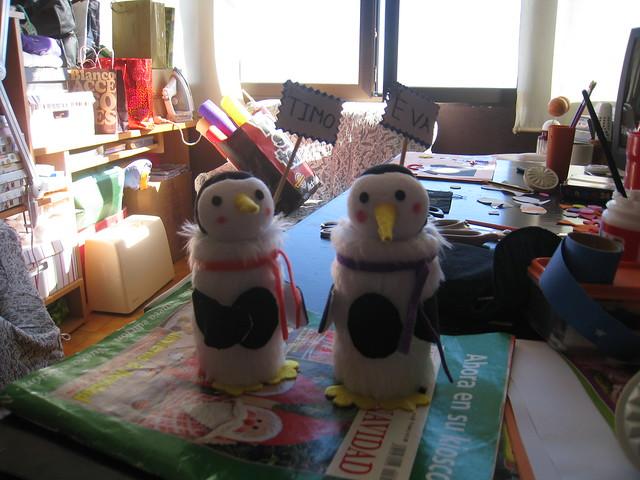 Tarde de Manualidades - Pinguinos guarda golosinas