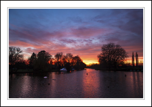trees sunset sky tree water clouds canon river godmanchester canonef24105mm