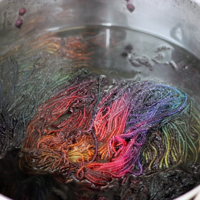 Weekends are for dyeing one of a kinds!  #tartan #BoxingDayEtsyUpdate!