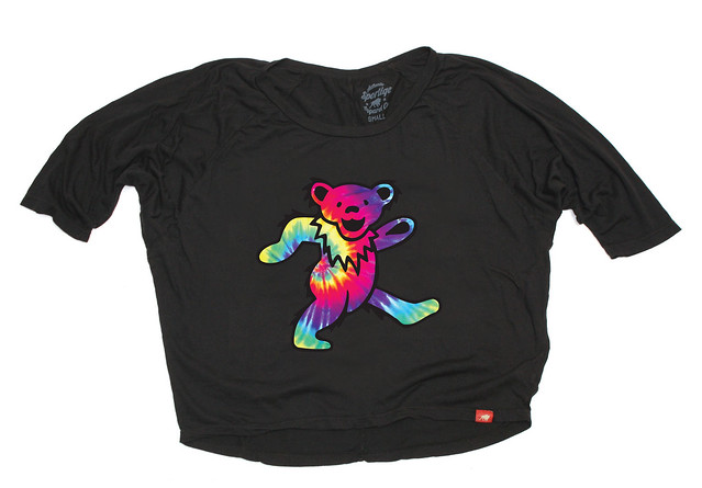 Sportiqe Womens Grateful Dead Tie Dye Dancing Bear T-Shirt