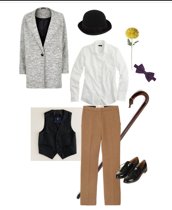 City lights, Charlie, Chaplin, outfit, inspiration,